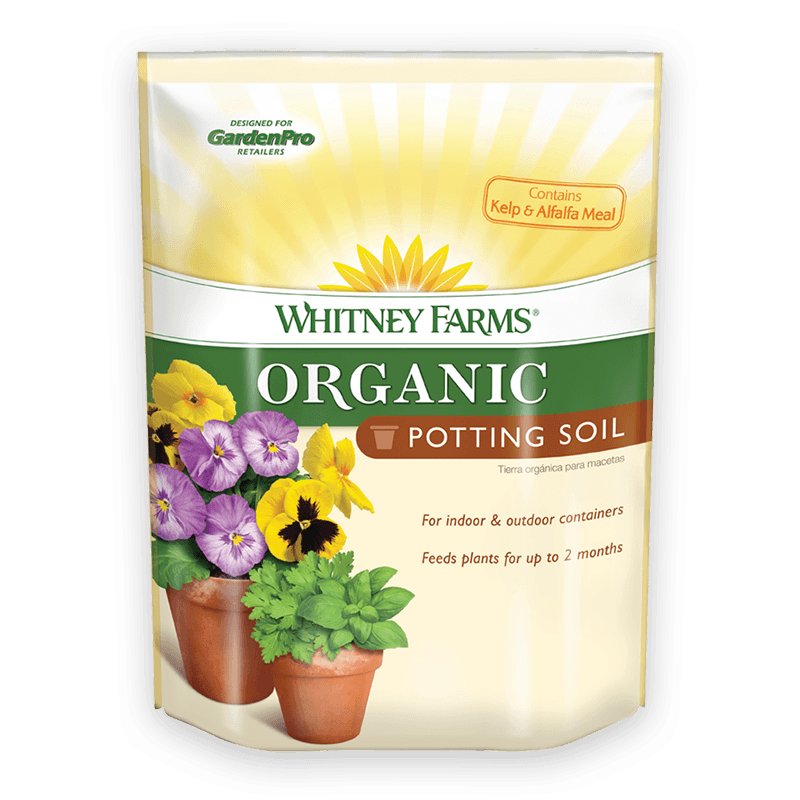 Organic potting soil whitney farms for Potting soil versus garden soil